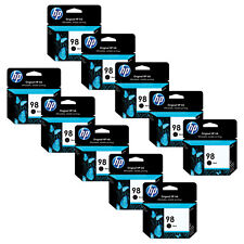 10 BLACK HP 98 Genuine Ink Cartridge C9364WN Officejet 100 6310 h470wbt Deskjet