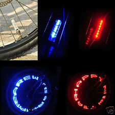 Blue Waterproof LED Letter Flash Decorative Light Car Bicycle Wheel Tire Valve