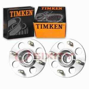 2 pc Timken Rear Wheel Bearing Hub Assembly for 1985-2000 Honda Civic gh