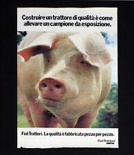 FIAT TRATTORI manifesto poster Maiale Scrofa Pig Motori Allevamento B113