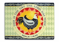 New French Country Rooster Chicken THIS IS DAY THE LORD HAS MADE Cutting Board