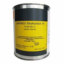 Warnex Strukturlack 1 kg schwarz