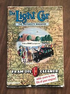 The Light Car Magazine September 1948 Fram Front Cover