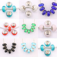 Lots Of 5 / 20Pcs Mixed Murano Lampwork Glass Beads Fit European Charms Bracelet