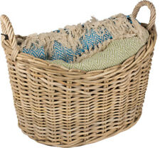 Valiant Scoop Top Rattan Wicker Blanket Storage Basket - Dassels FIR225