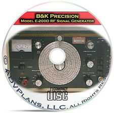 E200D RF Signal Generator, Instruction Calibration Manuals, B&K Precision CD C08