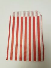 50 paper Red and white candy stripe sweet bags