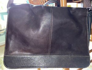 Kenneth Cole Brown Leather Business Case Laptop Crossbody Messenger Bag