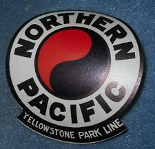 Vintage Northern Pacific Railroad Yellowstone Park Line Luggage Label