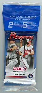 2021 Bowman Baseball VALUE PACK *Cello w/2 Packs* + 5 CAMO SP's + FREE SHIPPING!