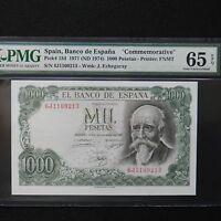 Spain 1971 (ND 1974) 1000 Pesetas, Pick # 154, PMG 65 EPQ Gem Unc