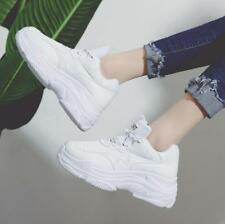 Womens Lace Up Wedge Hidden Heels Sports Shoes Casual Athletic Running Sneakers