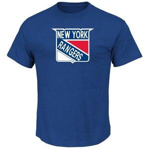 New York Rangers Majestic NHL Vintage Tek Patch Embroidered Premium T-Shirt