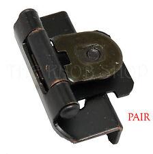 """PAIR Amerock 8719-ORB Bronze Single Demountable 1/2"""" Overlay Cabinet Door Hinge"""