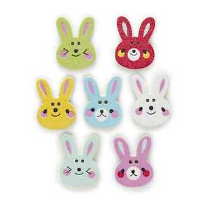 30pcs Rabbit Wood Buttons Sewing Scrapbooking Clothing Headwear Decor 20x15mm