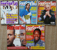 LOT- 5 Four Four Two Magazines - (2002-2008) Messi, Pele, Real Madrid