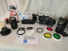 Lot Minolta X700 35mm Slr film Camera + El Nikkor, Motor, Lens & Accessories