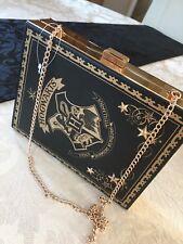 PRIMARK HARRY POTTER HOGWARTS SPELLBOOK SPELL BOOK CLUTCH CHAIN SHOULDER BOX BAG