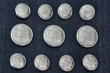 Silver Metal Blazer Buttons Set For Suit Sport Coat