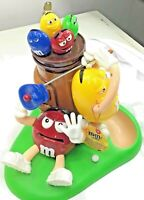 """YELLOW M/&M Pencil Holders GREEN LOT OF 4 RED ORANGE Figures 1-1//2"""" Tall"""