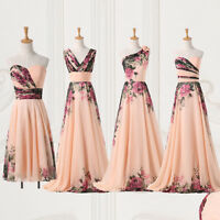 Vintage Retro Style 50's 60s Long Evening Ball Gown Party Prom Formal MAXI Dress