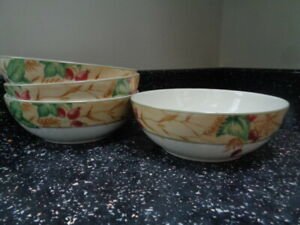 ROYAL DOULTON EXPRESSIONS EDENFIELD CEREAL BOWLS X 4