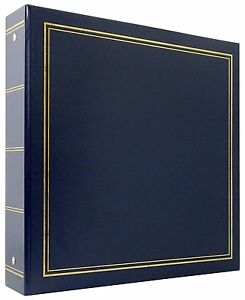 MBI 400 Pocket 3-Ring 4x6 Library Collection Photo Album Navy Blue