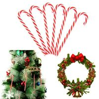 6pcs Xmas Tree Candy Cane Hanging Ornament Decoration Christmas Home Party Decor