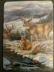 Rare! Rosemary Millette Bradford Exchange Artist Proof Plaque 'Winter Gathering'