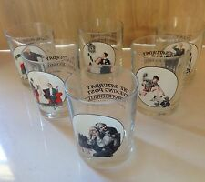 Norman Rockwell Glasses * Saturday Evening Post * Set of 6
