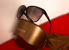 Gucci Black Cat Eye Sunglass with Iconic Gucci logo along the arms (unisex)