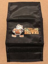 Cleveland Browns Elf Mascot NFL Nylon Trifold Wallet Licensed Used
