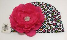 Mud Pie Baby Hat Leopard Flower Jewel Cap NWT One Size headwarmer