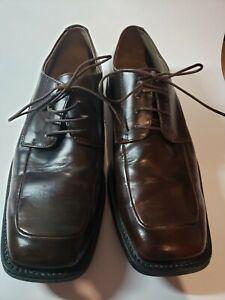 Borelli Men's Lace Up Dress Shoes Brown Size 11