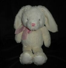 THE CHILDREN'S PLACE WHITE BABY BUNNY RABBIT PINK BOW STUFFED ANIMAL PLUSH TOY