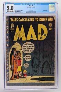 Mad #1 - EC 1952 CGC 2.0 1st satire comic.