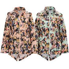 girls kagool jacket Brave Soul kids floral rain cagoule hooded fish tail summer