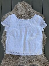 Lilly Pulitzer for Target Women's Eyelet Crochet Crop Top White Large Shirt