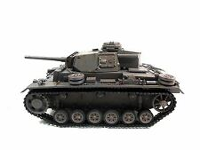 Complete Metal 1/16 Mato Panzer III RTR Ver BB Pellet RC Tank Grey Color 1223