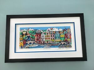 "Charles Fazzino 3D Artwork ""Alluringly Amsterdam"" Deluxe Edtion Signed /Numbered"