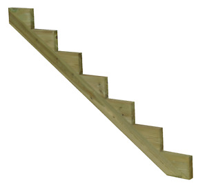 Treppenwange Treppenwangen für 7 Stufen Holz Treppe Abholung
