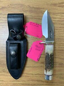 "Randall Model 19; 4 1/2"" Stag Handle Bushmaster Knife"