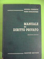 TORRENTE-SCHLESINGER.MANUALE DI DIRITTO PRIVATO.GIUFFRE XVI EDIZIONE.1999