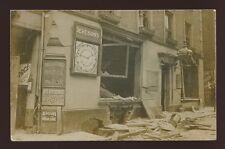 Kent RAMSGATE Zeppelin Air Raid 1915 RP PPC Bull & George + Devensons Coal shop
