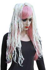 Candy Rainbow Wool Dread Hair Falls Hair Extensions Gothic Psytrance Merino