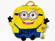 Minion Despicable Me Plush Backpack Bookbag Kid Boy School Bag #Yellow / 2 eyes