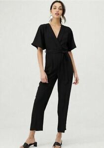BNWT V By Very Wrap Casual Jumpsuit - Black Size 12