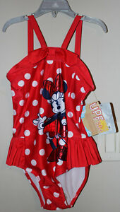 Disney Store Girl's Minnie Mouse Swim Suit, Size 7/8 - New w/Tags attached