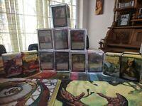 MTG: 8x Commander LOT EDH Decks (1200+ cards) Custom Cube Sleeved. Legends Draft