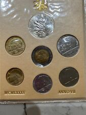 1985 Italy Vatican complete set coins  UNC with silver  inOFFICIAL FOLDER